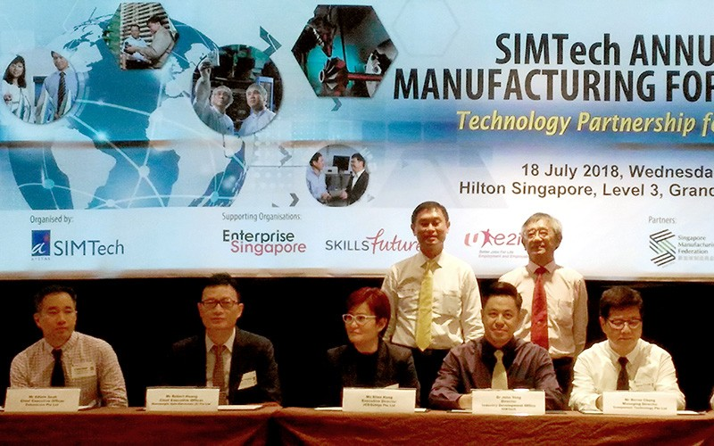 SIMTech Annual Manufacturing Forum – Technology Partnership for Impact, 18th July 2018